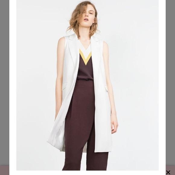 Zara Zara Waistcoat Zara White Vest White Vest White Waistcoat xBrdoeC